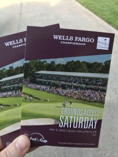2- Wells Fargo golf tournament tickets for Saturday, May 5