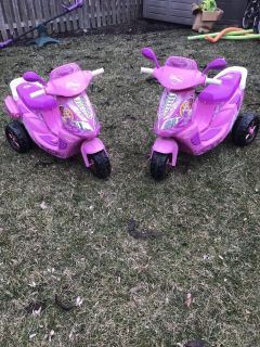 Power wheels scooters with chargers