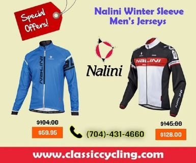Winter Clearance | Nalini Ossana & Logo Ti Long Sleeve Jersey for Men by Classic Cycling