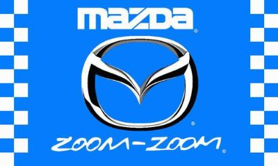 Purchase MAZDA ZOOM ZOOM FLAG 3' X 5' CHECKERED BANNER JX* motorcycle in Castle Rock, Washington, US, for US $17.95