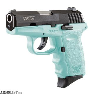 For Sale: SCCY CPX-2 9MM TEAL BRAND NEW WITH 2 MAGS AND KEY IN BOX