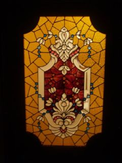 antique American stained glass 19th century doors