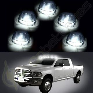 Buy 5 Roof Clearance Cab Marker Clear Cover +Super White LED Bulb for Ford F450 E550 motorcycle in Pomona, California, United States