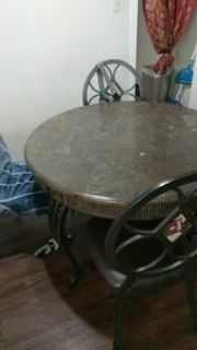 Mable table and chairs