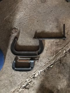 Set of C clamps