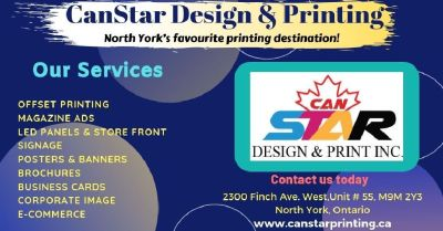 Best Printing Services in North York | CANSTAR DESIGN & PRINTING