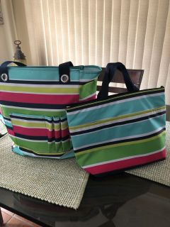 31 bags new condition, tote and small thermal