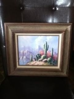 Creative Art Gallery Cactus Oil Painting Picture