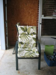 2 Lawn Chairs with Removal Cushion