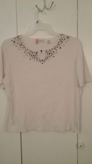 """""""Alfred Dunner"""" . xl. Black beaded. Smoke free home. Ebay selling for $18 to $20. Im asking $8.00."""