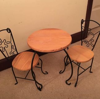 American Girl Doll Table & Chairs Set