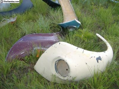 VW Bug fiberglass Ba Ha Fenders, baha engine lid