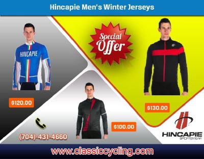 Men Collection 2019 | Huge Discount on Hincapie & Ghisallo Long Sleeve Jersey by Classic Cycling