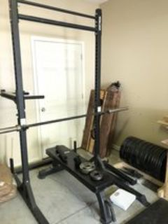 Squat Rack and Flat Bench