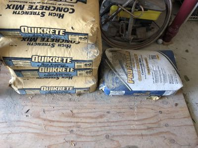 5 bags of concrete mix 12.00 for all.