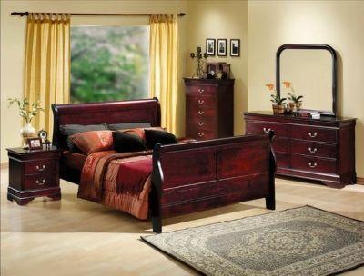 New Queen 5 Pc Bedroom Set SOLID WOOD -