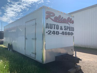 2012 30 FT ENCLOSED EXTENDED HEIGHT TRAILER NICE SHAPE