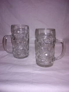 Old glass root/beer mugs