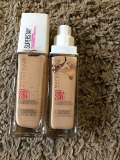 Maybelline color stay used 1 time it s to light for me 1 color is classic ivory #120 and the other color is natural ivory # 112 asking $10