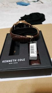 Kenneth Cole Mens Leather Watch