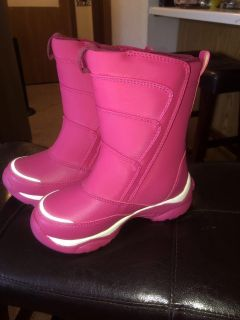 Size 11 child, velcro Land s End winter boots