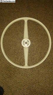 Bus steering wheel in decent shape