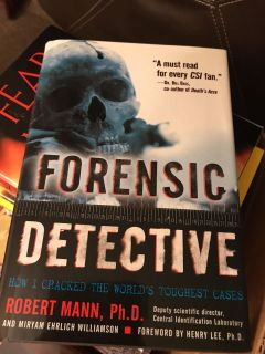 Forensic detective. Pick up at McCalla Target Thursdays from 5:15 till 6. CP