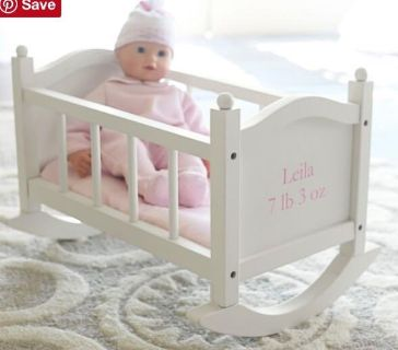 Pottery Barn Kids baby cradle bed toy new in open box
