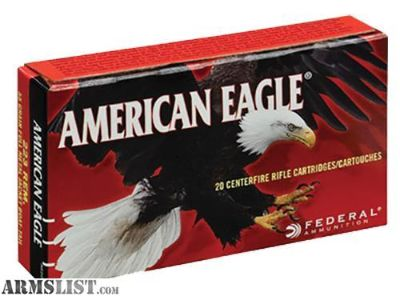 For Sale: Federal AE223 American Eagle 223 Remington/5.56 NATO 55 GR Full Metal Jacket Boat Tail 20 Bx/ 25 Cs. no taxes, no credit card fees, Flat rate shipping is $14.95 for unlimited ammunition