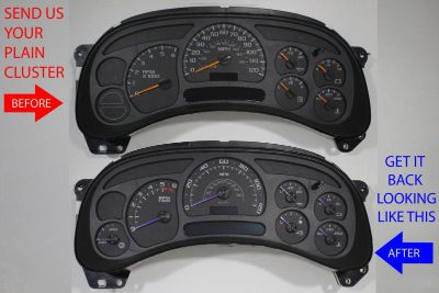Sell CUSTOM GM TRUCK CLUSTER REPAIR SERVICE + ESCALADE BLACK GAUGES + PURPLE POINTERS motorcycle in Putnam, Connecticut, US, for US $225.00