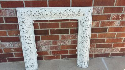 Jacksons Sons NY 729 Stamp On Back Antique Cast Iron Fire Place Surround.
