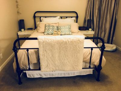 Queen Iron Bed Frame (antique bronze finish)