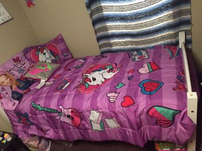 Brand new twin wooden bed