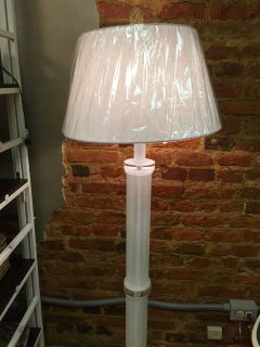 Lucite and acrylic floor lamp from the 80s