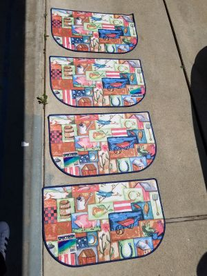 4 American Accent Mats W/Tags