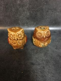 New Owl Salt and Pepper Shakers