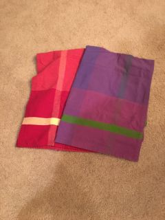 Set of two fabric table clothes