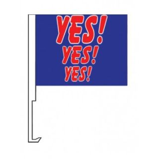 Buy Yes Yes Yes Car Window Clip On Dealer Flags (1) motorcycle in Castle Rock, Washington, United States, for US $10.95