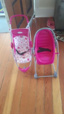 Doll stroller and swing /high chair