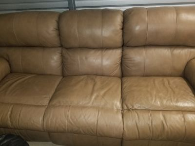 Leather Recliner Sofa and Loveseat