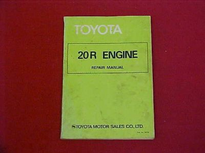 Purchase 1977 1978 1979 1980 TOYOTA 20R 20 R CELICA ENGINE SHOP SERVICE REPAIR MANUAL motorcycle in Leo, Indiana, US, for US $19.99