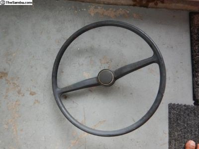 Early Bay Window Bus Steering Wheel With Button