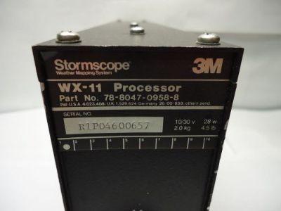 Buy 3M Stormscope 78--8047-0958-8 WX-11 Processor - Used Avionics motorcycle in Sugar Grove, Illinois, United States