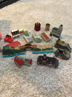 Micro machines cars and trains city set
