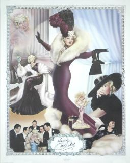 Mae West signed poster 1170 of 2000 BO considered
