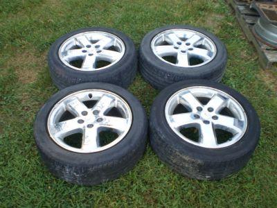 """RARE 17"""" Pontiac G6 Chrome Wheel RIMS OEM 2005-09 Tires included"""
