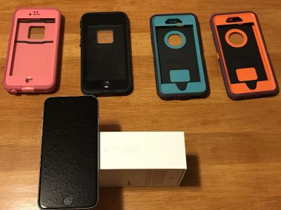 iPhone 6 phone with 4 cases!