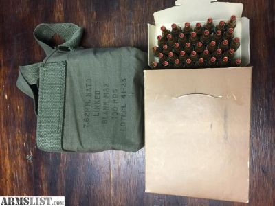 For Sale: 100 rounds of 7.62mm linked blank ammo