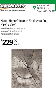 Brand new area rug still in package