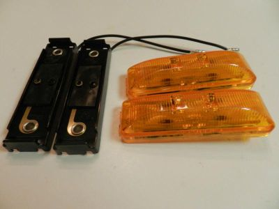 Sell (2) LED Light 1x4 Surface mount w/base Amber Clearance Marker trailer Optronics motorcycle in Springfield, Missouri, US, for US $11.00